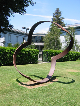 """Eclipse"" in Sacramento - Sculpture by Roger Berry"