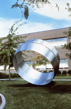 """Occulus"" in Sacramento - Sculpture by Roger Berry"