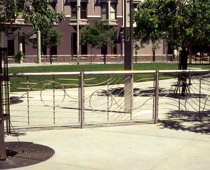 """Fence"" in Sacramento - Sculpture by Roger Berry"