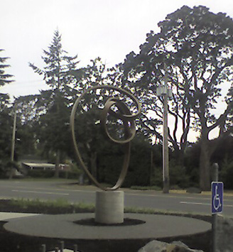 """Iris"" in Victoria, BC - Sculpture by Roger Berry"